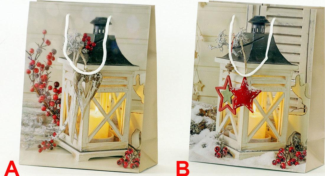 Artium Papírová taška střední   vánoční lucerna Provedení: A