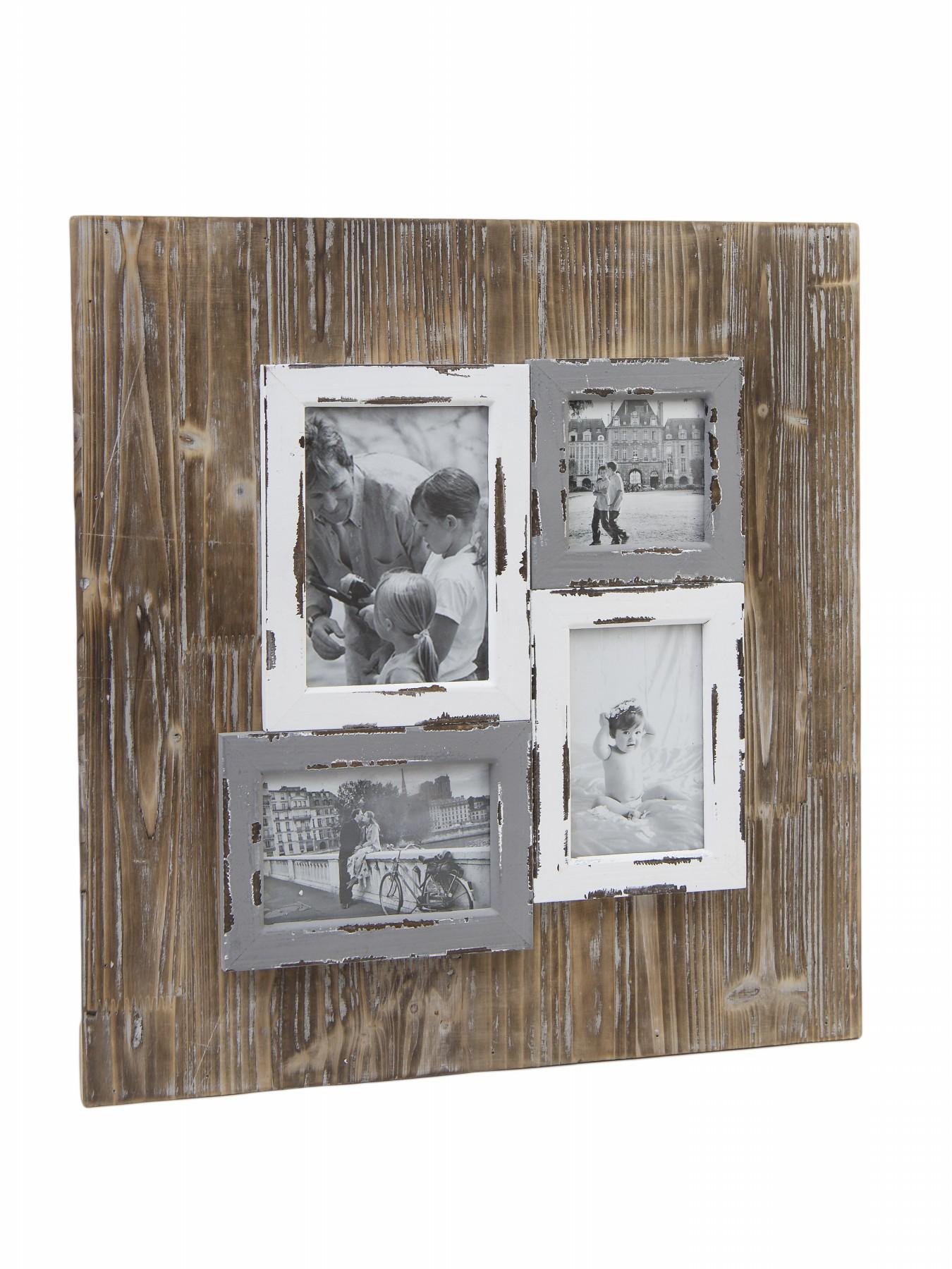 Ego Dekor fotorámeček patina na 4 fotky 49x51x3cm