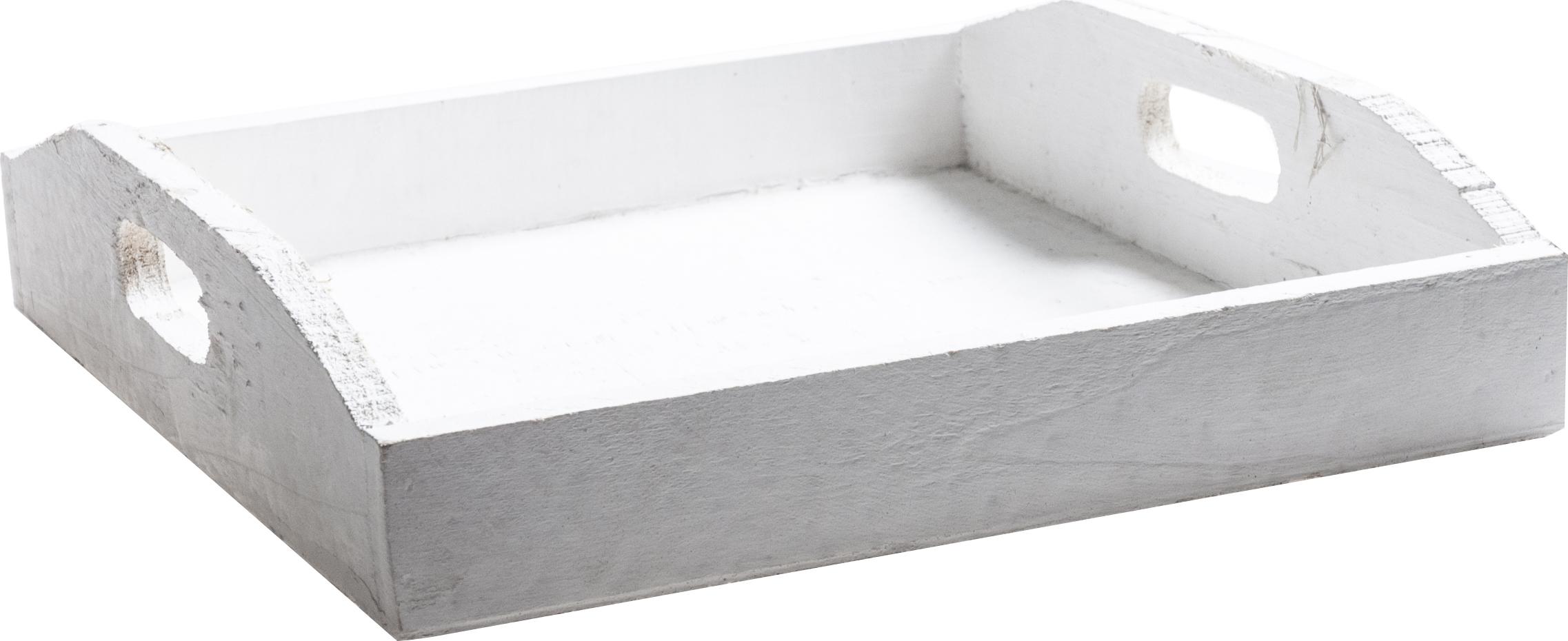 Dřevěný tác | dekorace | servírování | 22x22x3cm Barva: bílá