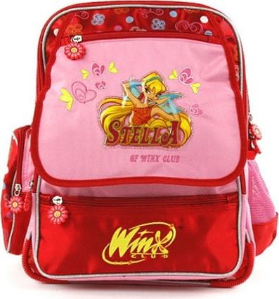 Winx Club batoh víla Stella červeno-růžový