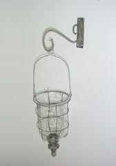 Lucerna drátek na pověšení 28x21,5x69,5cm