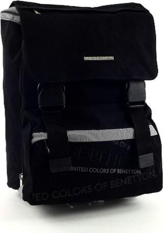 Školní batoh Benetton na přezky   černá   37x27x23cm