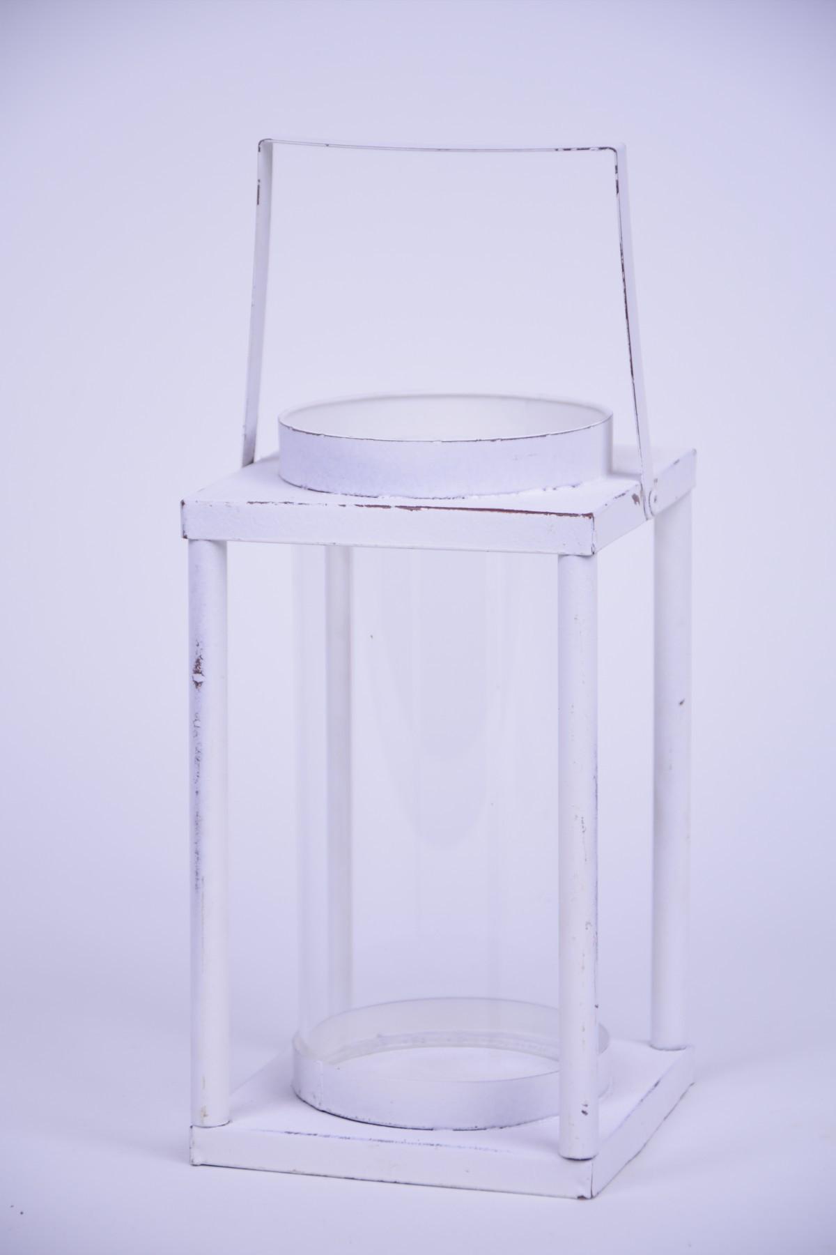 LUCERNA hranatá bílá 11x28x11cm
