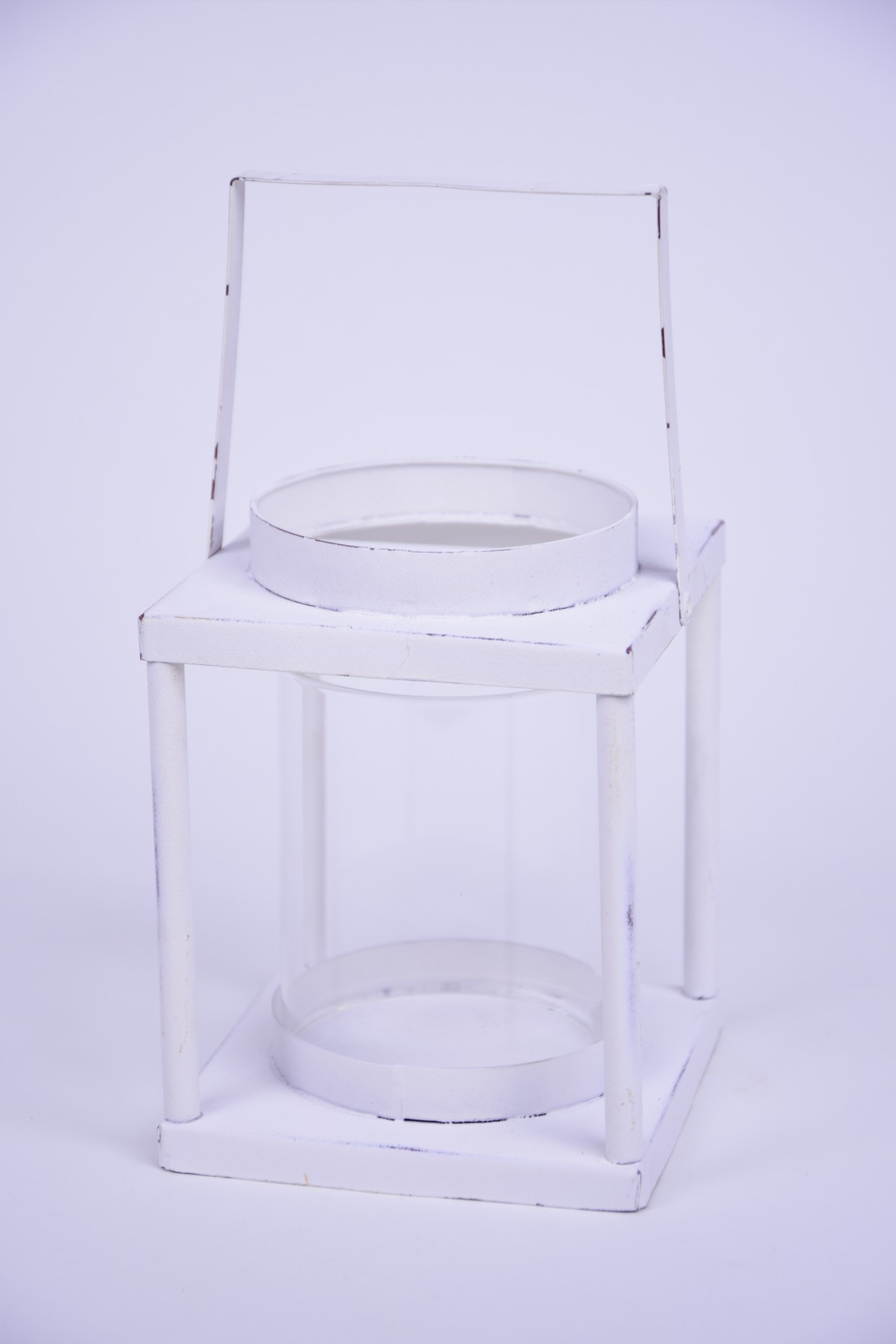 LUCERNA hranatá bílá 11x23x11cm