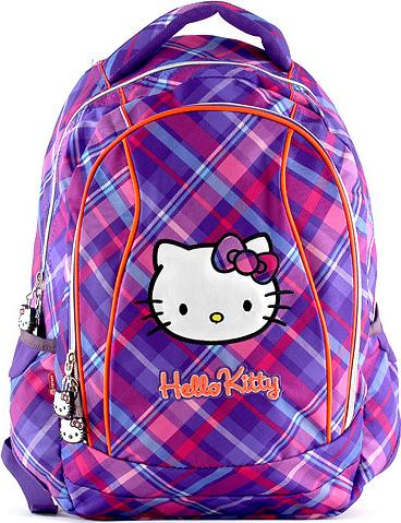 Školní batoh Hello Kitty fialovo-růžový
