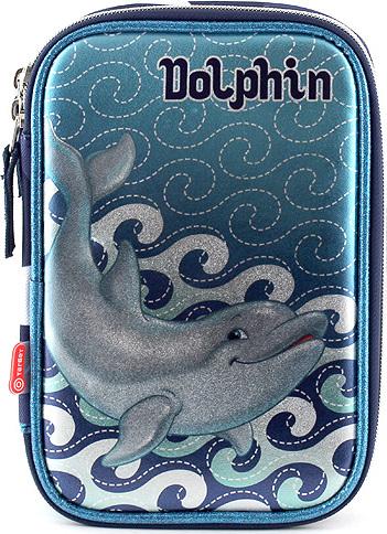Target Školní penál s náplní Dolphin modrý