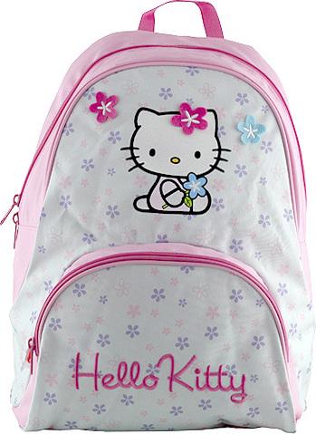 Batůžek Hello Kitty | motiv květin