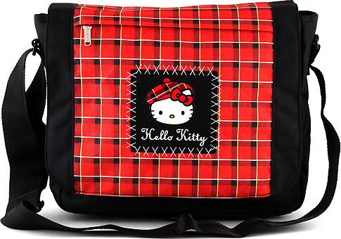 Taška přes rameno Hello Kitty | červeno-černá