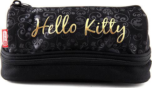 Školní penál Hello Kitty | černý