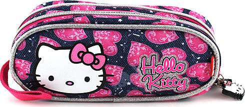 Školní penál Hello Kitty   modrý   motiv Jeans