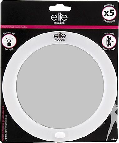 Elite Models Kosmetické zrcadlo | s LED osvětlením | 5x zvětšení
