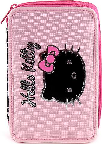 Školní penál | dvoupatrový | s náplní | Hello Kitty