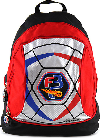 Target Dětský batoh | pro kluky | černo-červený