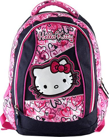 Batoh Hello Kitty motiv jeans, modro-růžový