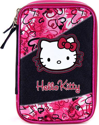 Školní penál | jednopatrový | s náplní | Hello Kitty