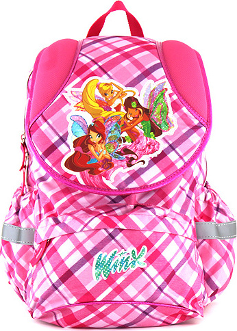 Winx Club batoh růžový kostky