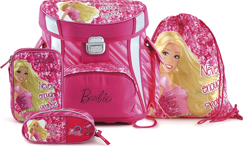 Školní set   Barbie   růžový   4ks