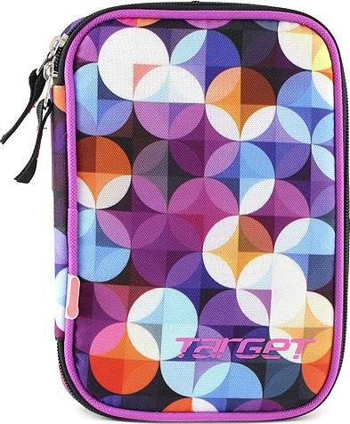 Školní penál s náplní Target jednopatrový, barevný