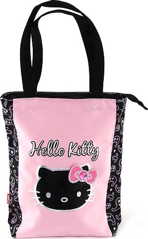 Nákupní taška | Hello Kitty | černo/růžová | s motivem Hello Kitty