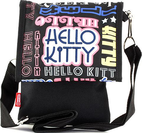 Kabelka přes rameno | Hello Kitty | černá, s nápisy