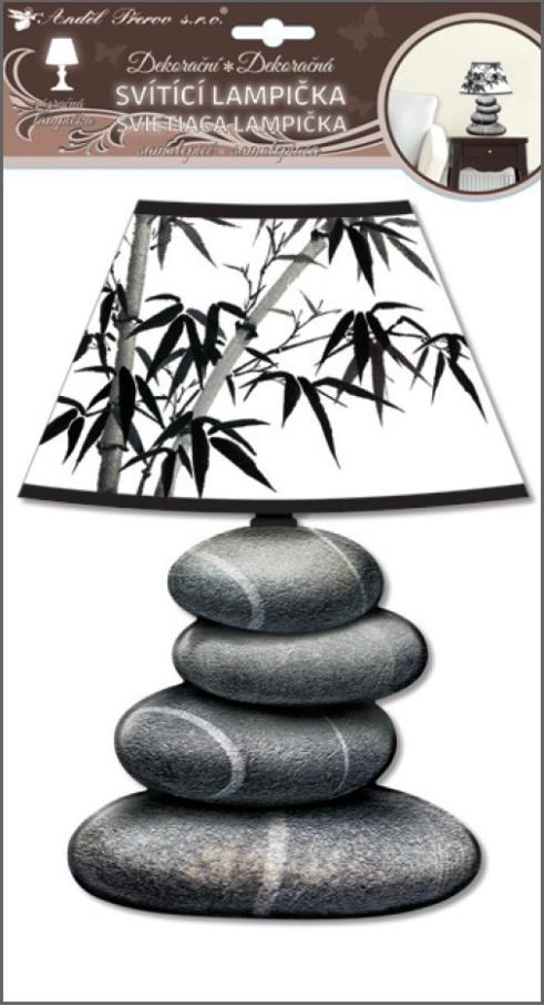 Lampička samolepicí svítící LED kameny 31 cm