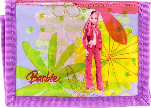 Peněženka Barbie růžovo/fialová, s motivem panenky Barbie