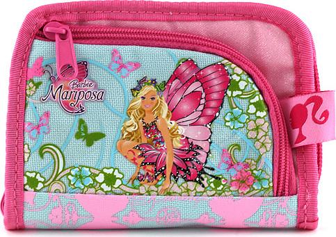 Peněženka Barbie růžová, s motivem panenky Barbie Mariposa