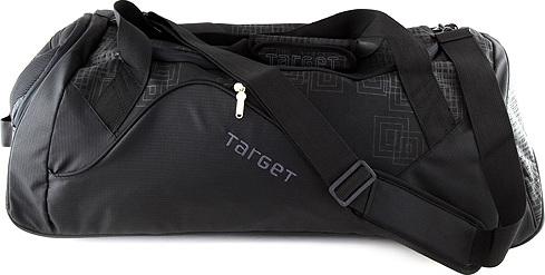 Cestovní taška   Target   černá s šedými ornamenty   na kolečkách