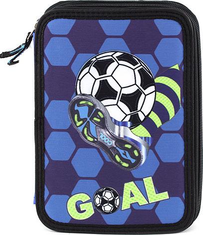 Školní penál s náplní Target Goal, barva modrá
