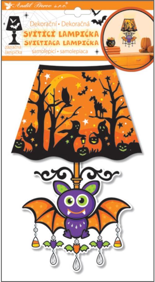 Anděl Přerov Lampička samolepicí svítící LED netopýr 27cm