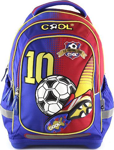 Školní batoh Goal modro-červený Cool
