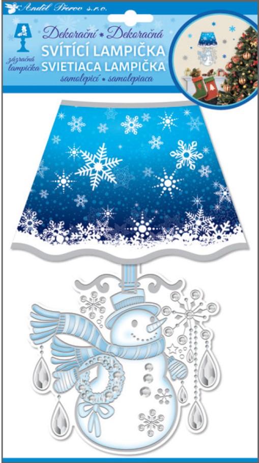 Anděl Přerov Lampička samolepicí svítící LED sněhulák 27cm