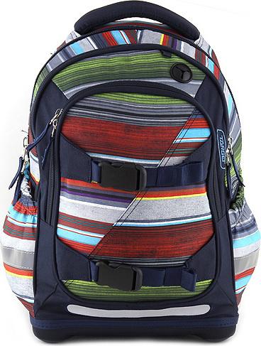 Školní batoh Target Tmavě modrý s barevnými pruhy