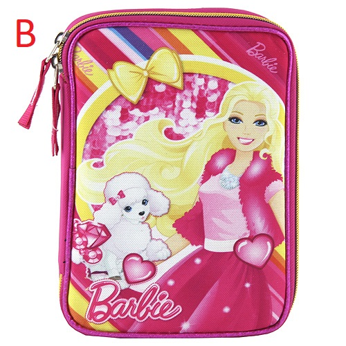 Školní penál | XXL | s náplní | Barbie Provedení: B