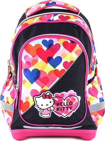 Školní batoh Target Hello Kitty, barevné srdce