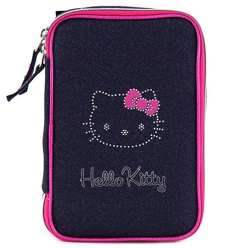 Školní penál   s náplní   Hello Kitty   2 druhy Barva: tmavě modrá