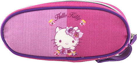 Školní penál   elipsovitý   Hello Kitty   růžový