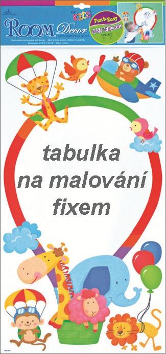 Anděl Přerov Samolepky na zeď balón bílá tabule 60x30cm
