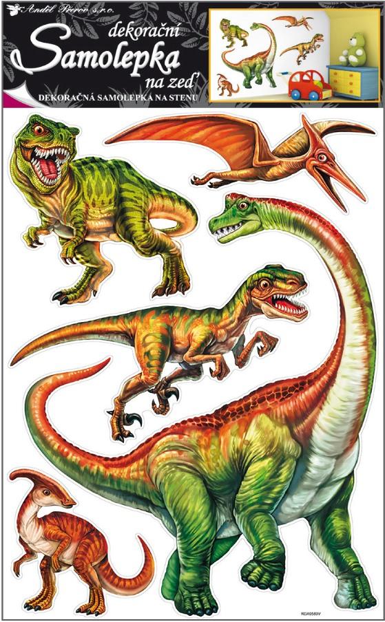 Anděl Přerov Samolepky na zeď dinosauři 70x42cm