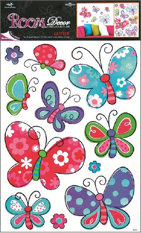 AP Samolepky na zeď motýli 70x42 cm