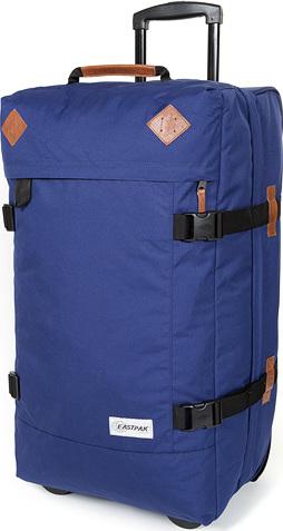 Cestovní taška Eastpak Modrá s koženými doplňky