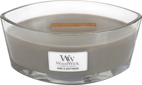 Svíčka | dekorativní váza | WoodWick | Písek a naplavené dříví | 454g