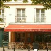 Obraz kavárna s oranžovou markýzou 23x23cm