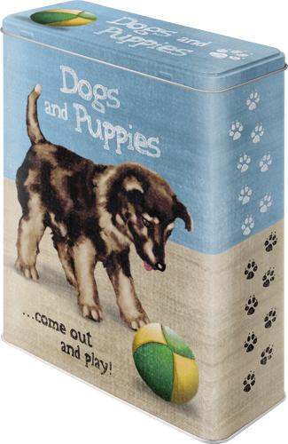 Nostalgic Art Dóza Dogs and Puppies 19x26cm Rozměry: 19x26cm