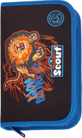 Školní penál s náplní Scout lev