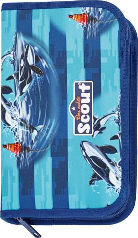 Školní penál s náplní Scout oceán