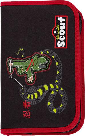 Školní penál s náplní Scout Ninja a had