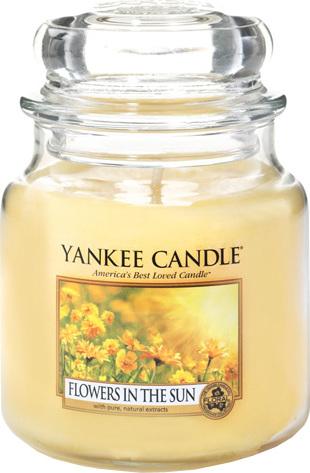Yankee Candles Svíčka ve skleněné dóze Yankee Candle Květiny na slunci, 410 g