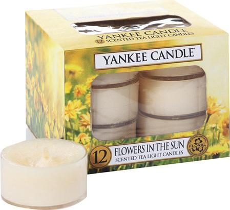 Yankee Candles Svíčky čajové Yankee Candle Květiny na slunci, 12 ks