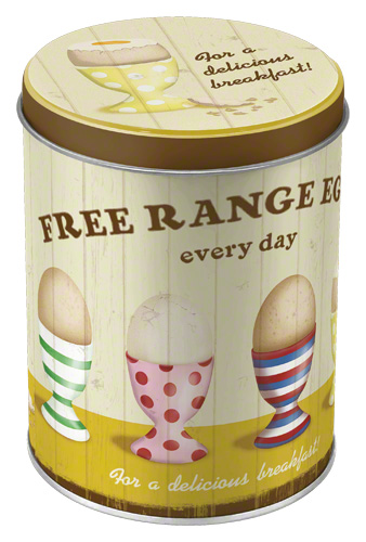 Nostalgic Art Dóza na potraviny Free Range Eggs 10x13cm Rozměry: 10x13cm
